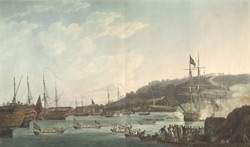 The Royal Dockyard at Plymouth ...at the time of his Majesty's Excursion to the Port